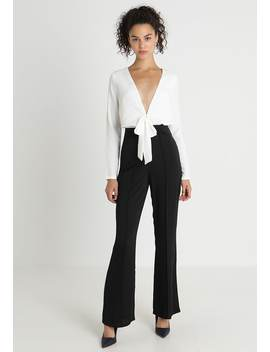 Mono Tie Front   Jumpsuit by Missguided