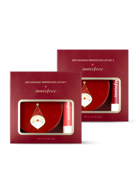 Innisfree   Holiday Winter Kiss Lip Set: Lip Sleeping Pack With Canola Honey 20g + Glow Tint Lip Balm 1pc by Innisfree