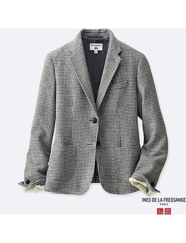 Women Ines Soft Tweed Jacket by Uniqlo