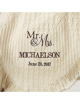 Wedded Pair Wedding & Anniversary Afghan by Bed Bath And Beyond