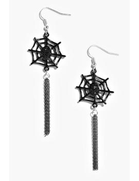 Halloween Cobweb Tassel Earrings by Boohoo