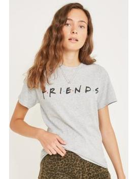 Friends Logo Grey T Shirt by Urban Outfitters
