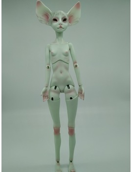 Bjd Doll 1/  Cat Head Humanoid Joint Doll Free Eyes by Stenzhorn