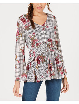 Printed Flounced Top, Created For Macy's by Style & Co