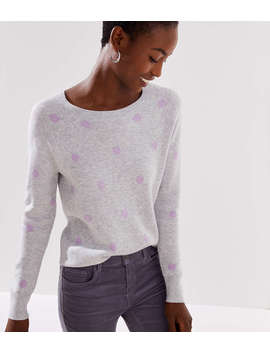 Dot Jacquard Sweater by Loft