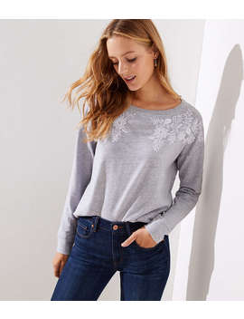 Floral Embroidered Sweatshirt by Loft