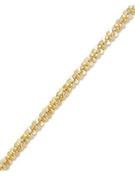 14k Gold Ankle Bracelet, Faceted Chain Anklet (1 1/2mm) by Macy's