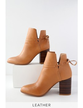 Welsey Sienna Leather Ankle Booties by Kelsi Dagger