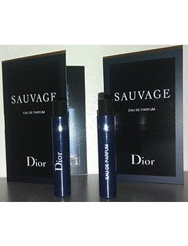 Dior Sauvage Eau De Parfum 2018 Sample Vials For Men, 0.03 Oz Edp  Lot Of 2   Name Brand Cologne Samples Included  by Dior