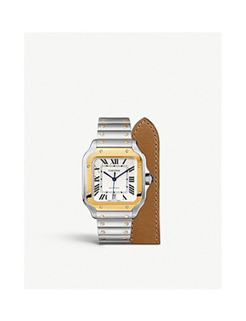 Santos De Cartier 18ct Gold And Stainless Steel Automatic Watch by Cartier