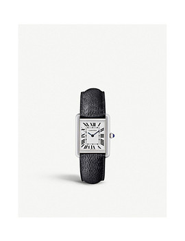 Tank Solo Steel And Leather Watch by Cartier