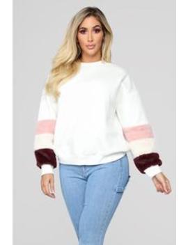 Fur Diva Sweater   Ivory by Fashion Nova
