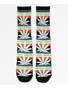 Huf Plantlife Serape Black Crew Socks by Huf