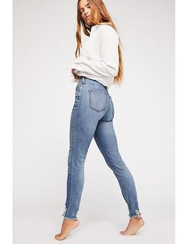Crvy Mid Rise Destroyed Skinny Jeans by Free People