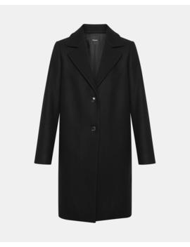 Stretch Melton Long Clairene Coat by Theory