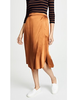 Drape Panel Skirt by Vince
