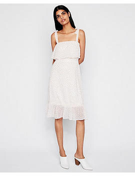 Print Tie Shoulder Midi Dress by Express