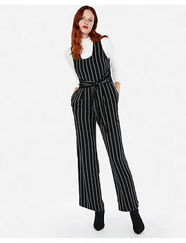 Stripe Tie Front Wide Leg Jumpsuit by Express
