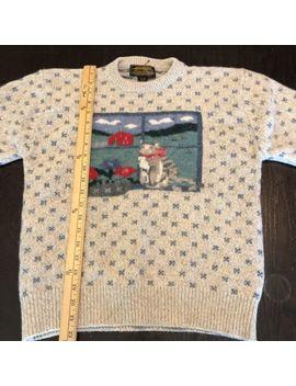 Eddie Bauer Vintage Wool Cat Sweater Womens Medium by Eddie Bauer