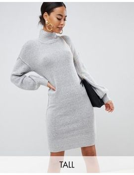 Fashion Union Tall Knitted Dress With Balloon Sleeves by Fashion Union