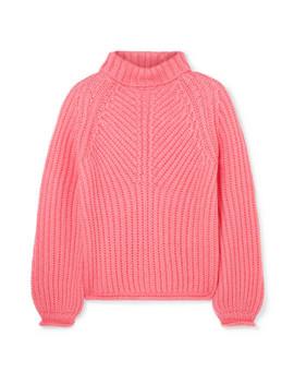 Nicholas Ribbed Mohair Blend Turtleneck Sweater by Stine Goya