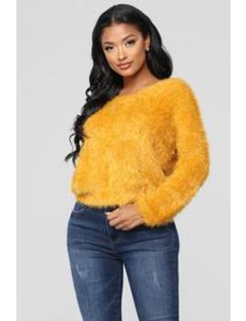 Autumn Twist Sweater   Mustard by Fashion Nova
