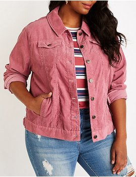 Plus Size Corduroy Jacket by Charlotte Russe