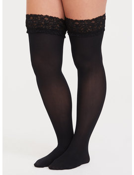 Lace Thigh High Tights by Torrid