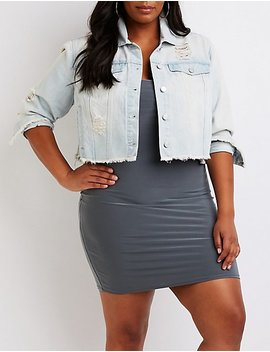 Plus Size Refuge Cropped Denim Jacket by Charlotte Russe