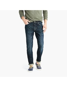 484 Slim Fit Jean In Stretch Dark Worn In Japanese Denim by J.Crew