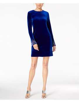 Velvet Bling Sleeve Dress by Calvin Klein