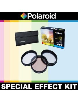 Plr Optics 3 Piece Filter Kit (Soft Focus, 4 Point Star, Warming) For Canon Digital Eos, 70 D, 60 D, 60 Da, 50 D, 40 D, 30 D, 20 D, 10 D, 5 D, 1 D X, 1 D, 5 D Mark 2, 5 D Mark 3, 7 D, 6 D Dslr (60mm, 50mm 1.8) by Polaroid