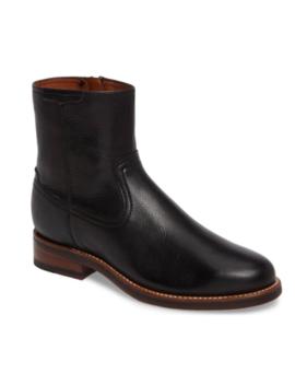 New Men's Ariat 10020163 Santa Fe Soft Black Calfskin Side Zipper Boot Reg $350 by Ariat