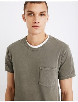 Garment Dyed Daily Crewneck Pocket Tee by Madewell