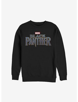 Marvel Black Panther 2018 Text Logo Sweatshirt by Hot Topic