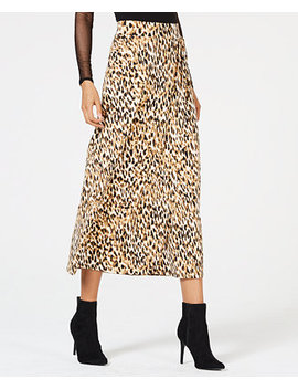 Leopard Print Skirt, Created For Macy's by Thalia Sodi