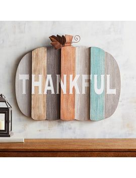 Planked Pumpkin Wall Decor by Grateful Harvest Collection