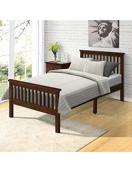 Harper&Bright Designs Wood Platform Bed With Headboard/Footboard/ Wood Slat Support/No Box Spring Needed Twin (Espresso.) by Harper&Bright Designs