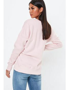 Pink Los Angeles Crew Neck Sweatshirt by Missguided