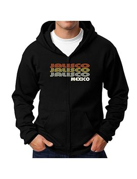 Teeburon Retro Color Jalisco Zip Hoodie by Teeburon