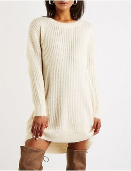 Crew Neck Sweater Dress by Charlotte Russe