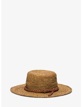 Santorini Raffia Straw Hat by Michael Kors Collection