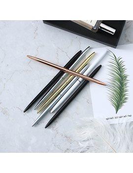 Cute Kawaii Metal Ballpoint Pen Lovely Slim Ball Pen For Business Writing Gift Office Supplies Business Signature Pen by Jesjeliu