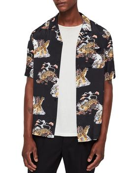 Kirshma Slim Fit Print Shirt by Allsaints