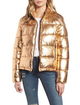 Metallic Puffer Jacket by Marc New York