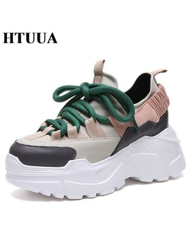 Htuua 2018 Spring Autumn Women Casual Shoes Comfortable Platform Shoes Woman Sneakers Ladies Trainers Chaussure Femme Sx1450 by Htuua