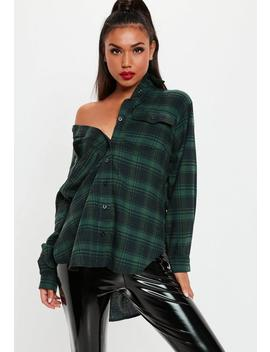 Green Oversized Check Shirt by Missguided