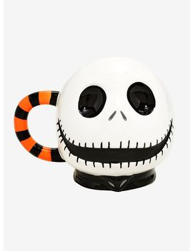 The Nightmare Before Christmas Jack Orange Striped Handle Mug by Hot Topic