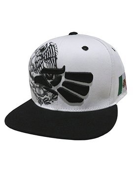 Leader Of Generation Hecho En Mexico Mexican Flag States Eagle Flatbill Snapback Hat by Leader Of Generation