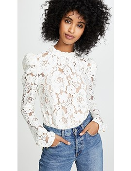 Emma Puff Sleeve Lace Top by Wayf
